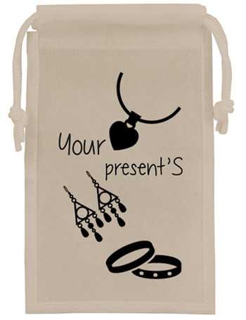 bolsa de tela + joyeria +blanca