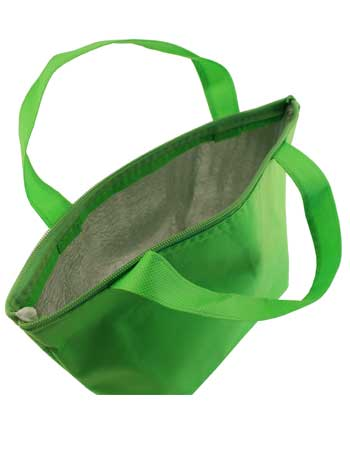 bolsa termica + verde pistacho vista interiror
