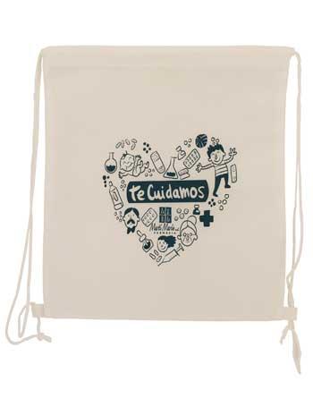 mochila saco + blanca