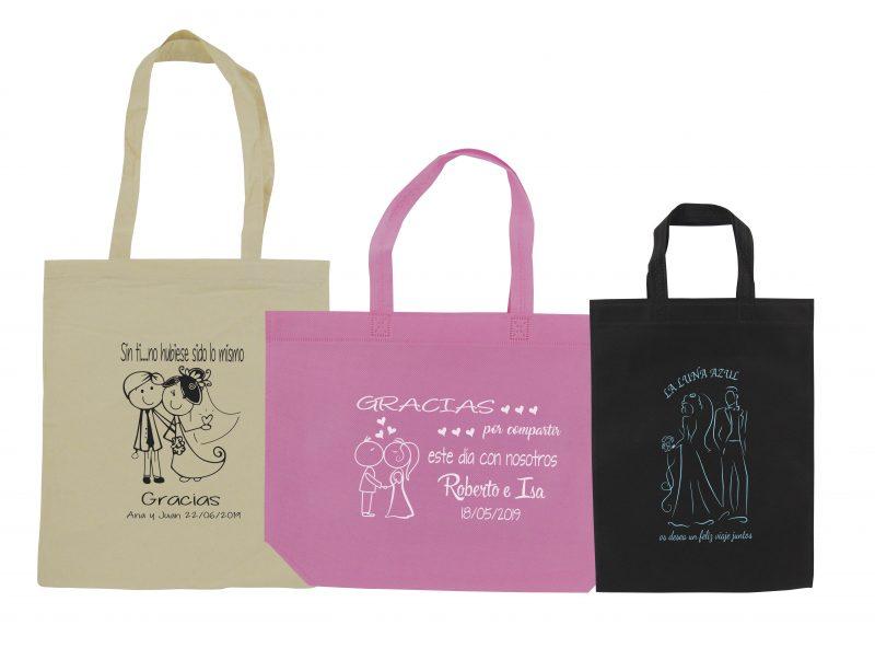 set bolsas de tela + algodon paula maria