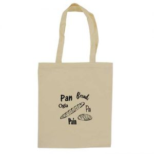bolsa + algodón con impresion