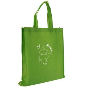 bolsa tst + plegable verde con impresión