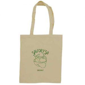 bolsa de tela + algodón con impresión