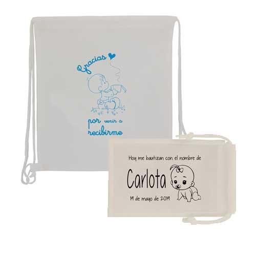 set bolsas de tela + mochila saco joyeria