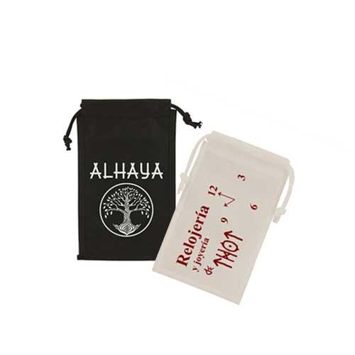 set bolsas de tela + judería con impresión
