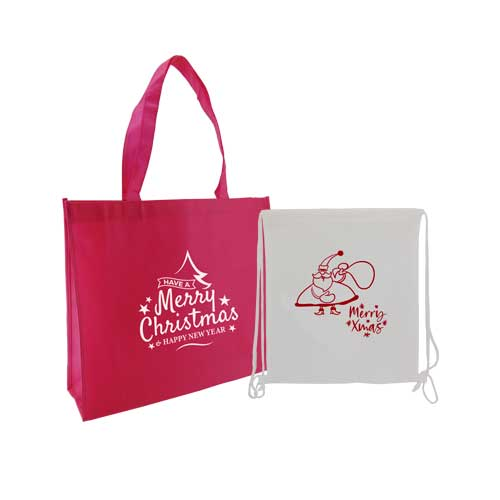 set bolsas + tst y mochila saco con impresion