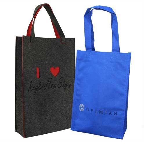 set bolsa de tela + fieltro y pvc